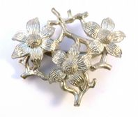 Vintage Exquisite Flower Triple Flower Brooch